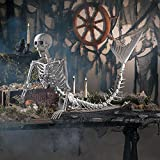 Life-Size Original Mermaid Skeleton Halloween Decoration