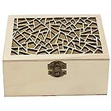Caja de Madera artesanía con Tapa Forma Grieta