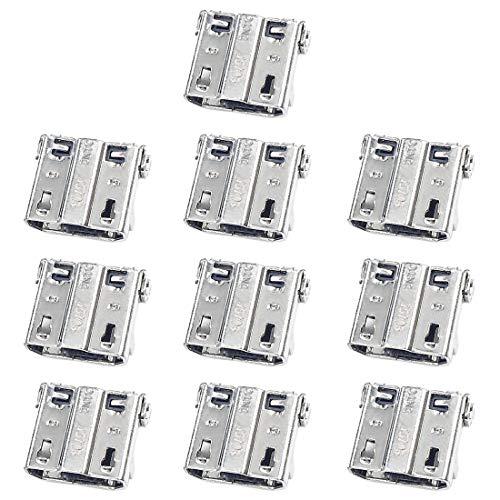 TANGJIANCHENG - Conector de puerto de carga profesional, 10 unidades, compatible con Galaxy S4, E250S, E250K, E300S, E300L, S4 Zoom SM-C101