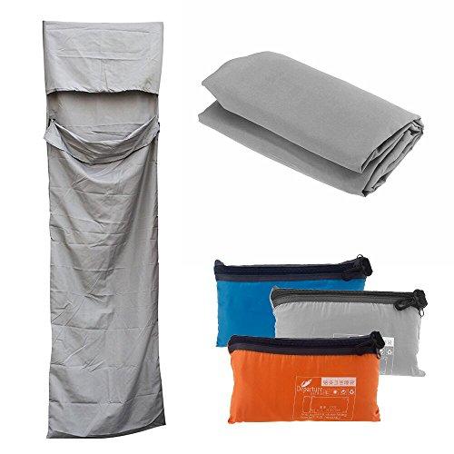 Docooler Sac de couchage multifonction pour voyage 210 x 70 cm, gris