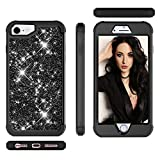 FlipBird iPhone 6S Case for Girls/Boys, Heavy Duty Protection Shock Absorbing Silicone Rubber Bumper+Hard Plastic Shell Hybrid Dual Layer Protective Case for iPhone 6/6S 4.7 Inch Black/Black