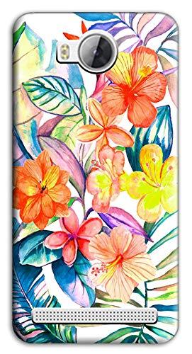 Mixroom - Cover Custodia Case in TPU Silicone Morbida per Huawei Ascend Y3 II 2 Fantasia Fiori Tropicali M764