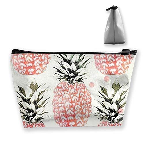 Sac de rangement coloré en forme d'ananas avec réglable pour cosmétiques, pinceaux de maquillage, produits de toilette