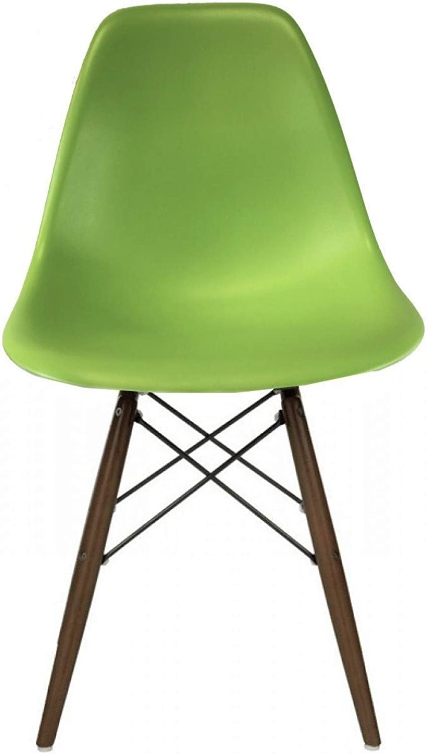 Take Me Home Furniture Eames Style Eiffel Dinning Chair Apple Green with Walnut Wood Legs