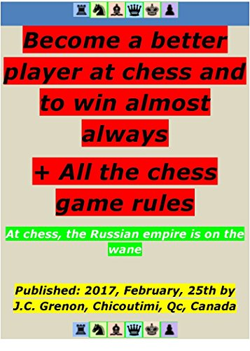 How to become better at chess and to win almost always even against the chess software of top level: Also, contains all the chess game rules and much more (English Edition)