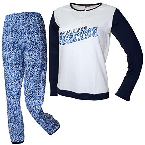 Dimensione Danza Schlafanzug für Damen, Mädchen, warm, Baumwolle, Interlock-Milch,...