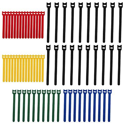 NRRN T-Type - Bridas para cables de espalda a trasera y trasera autoadhesivas, tela de microfibra para bricolaje, hogar