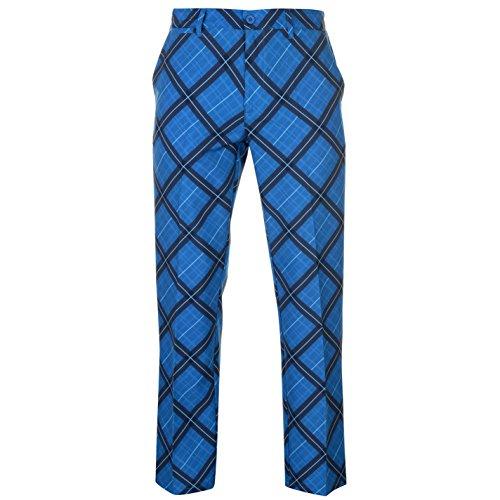 Slazenger Herren Print Golf Hose Taschen Marineblau/Blau 38W 31R