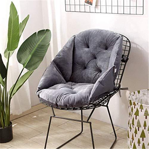 ITODA Cojín para silla con respaldo, cojín de asiento, cojín de respaldo, protector de cintura, cojín de felpa suave para coche, asiento de jardín, silla de oficina, silla de oficina