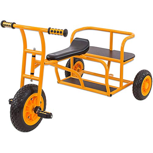 Cacoffay Kinder Dreiräder, Stabil Kinder Fahrzeuge, Tandem Taxi Fahrräder zum 4-8 Jahre Alt Kinder Wagen