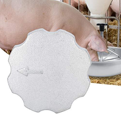 Redxiao~ Korrosionsbeständige Ferkel-Futterschale, Zinklegierung 360-Grad-Feinmahlung Viehfütterungszubehör Langlebiges praktisches Futtermittelzubehör Ferkel