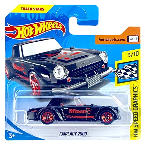 Hot Wheels Fairlady 2000 (Negro/Rojo) 3/10 HW Speed Graphics 2018 - 344/365 (tarjeta corta) FJY34