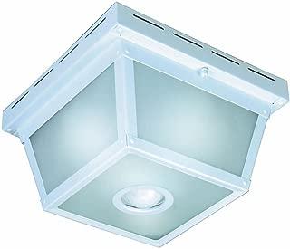 Hampton Bay 360 Degree Square 4-Light White Motion Sensing Outdoor Flush Mount