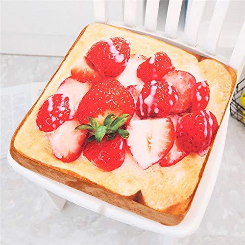 CTDMMJ Simuliertes Essen Kissen Obst Toast Kissen Plüschtier gefüllt Kissen realistisches Essen lustiges Geschenk für Kinderzimmer Dekoration-Ei Ketchup