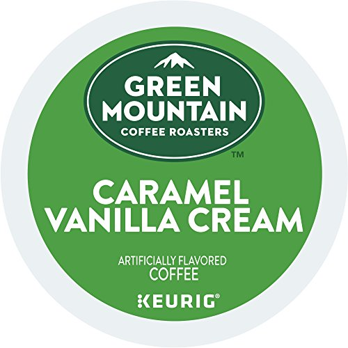 Green Mountain Coffee Roasters Caramel Vanilla Cream, Single-Serve Keurig K-Cup Pods, Flavored Light Roast Coffee, 72 Count