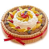 CAKE EXPRESS ビスキュイ付ダブルタワーケーキ 生チョコ8号+生クリーム4号