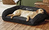 Orvis Memory Foam Bolster Dog Bed/X-Large Dogs 90-120 Lbs. Multiple Dogs, Slate, X Large