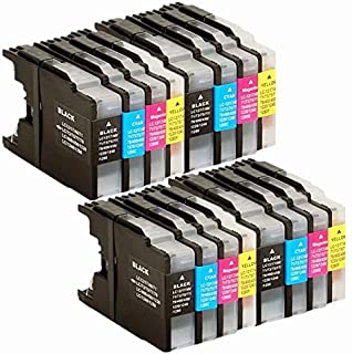 No-name Compatible Ink Cartridge Replacement for Brother LC17 LC77 LC79 LC450 LC1280 MFCJ705DW MFCJ825DW MFCJ625DW MFCJ432W MFCJ430W Inkjet Printer (4 Black,4 Cyan,4 Magenta,4 Yellow)