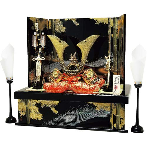 Tokyo Matcha Selection - [Heritage Set Japanese Samurai Kabuto Helmet - Tiger & Dragon [A] - Stand Base, byobu Folding Screen, etc.[Standard Ship by EMS (Expedited) with Tracking Number & Insurance]