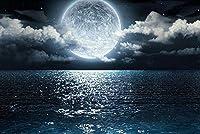 夜の大人のためのクロスステッチクロスステッチキット海の月40x50cm11CT番号刺繡キット手作りキットパンチ針刺繡DIYスターターキット