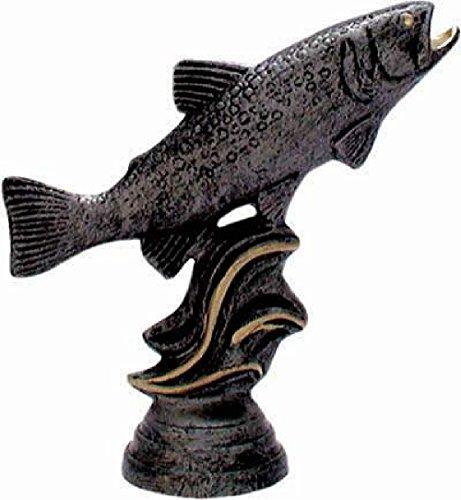 RaRu Angler-Pokal auf weißem Marmorsockel montiert mit Wunschgravur (34034)