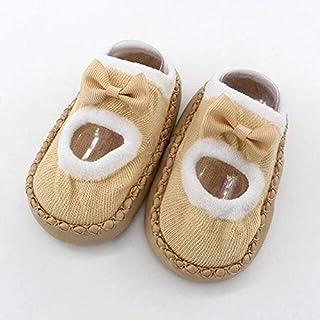 K 13-18 Months Newborn Crib Shoes Toddler Baby Girl Boy Shoes First Walker Baby Cartoon Newborn Baby Girls Boys Anti-Slip Socks Slipper Shoes