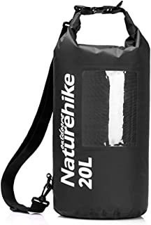 Mount Hour Naturehike Floating Waterproof Dry Bag 20L TPU Ultra Light View Dry Gear Bags for Kayaking, Camping, Hiking, Swimming