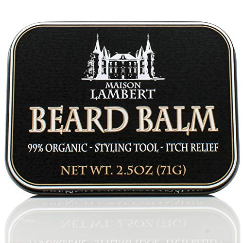 Maison Lambert Organic Beard Balm -Beard Balm Leave-in Conditioner - All Natural - Organic Oils and Butters 2.5 Oz