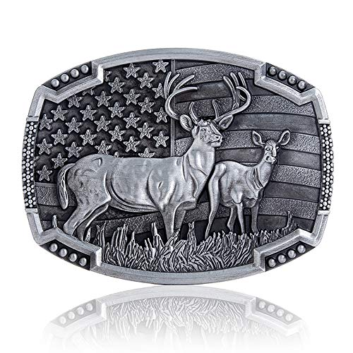Vintage Celtic Knot Belt Buckle for Men Simple Cowboy Belt Buckle (Silver DF)