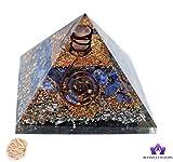 Blessfull Healing Reiki Piedras Curativas Feng Shui Piedra de sodalita de regalo con generador de energía de chakra de pirámide orgonita de lápiz con selenita de rosa de desierto