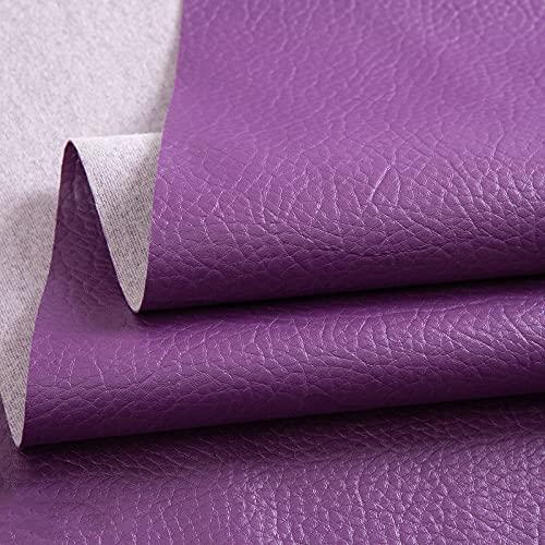 ZSYGFS Tela De Cuero Sintético De Polipiel 138 Cm De Ancho Vendido por Metro para Muebles Sofás Sillas Manualidades(Color:púrpura)