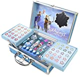 Disney- Frozen II Princess Makeup Traincase, Color azul, Talla Única (Markwins 1599018E)...