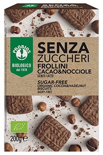 Probios Frollini Cacao e Nocciole Bio - Senza Zuccheri - Confezione da 6 x 200 g