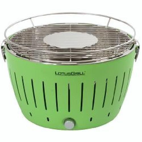 Lotusgrill, Serie 340 , Farbe Limone grün Schnelles, gesundes und sicheres Grillen mit Ventilatursystem. 32 cm Rostdurchmesser