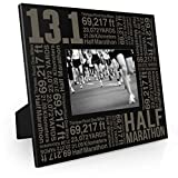 Gone For a Run 13.1 Math Miles Frame | Engraved Running Picture Frame Horizontal 5X7