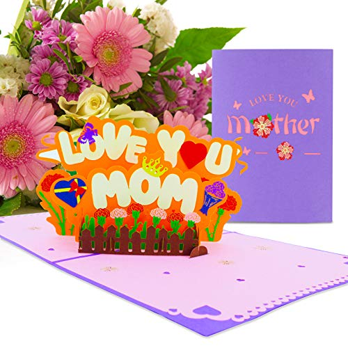 Muttertagsgrußkarte, Geburtstagskarte Pop Up, Happy Birthday Karte, Geburtstagskarte 3d, Überraschungsgeschenk für Mama