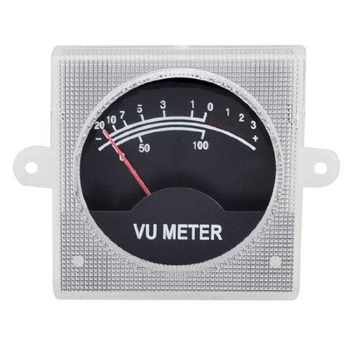 DealMux 500uA 700 Ohm 55x55mm audio analogico Amplificatore SoundBox VU meter Nero