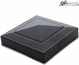 Plastic Post Cap, 4 x 4 inches, Black Color, 8 Pieces. Extreme Weather Resistant.