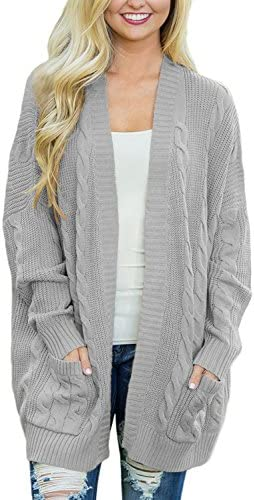 Dearlove Women s Oversized Long Sleeve Open Front Cable Knit Cardigan Sweater Casual Loose Coat product image