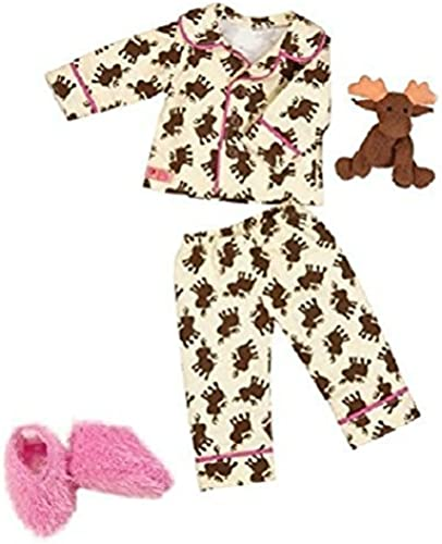 Our Generation Goodnight Moose Pajama Outfit and Accessory Set for 18 Poseabl... by Maison Joseph Battat LTD