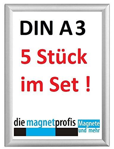 Inklapbare fotolijsten, 5 stuks, DIN A3, aluminium, wissellijst, fotoframe, winkelinrichting, winkel, prijslijst reclamedecor