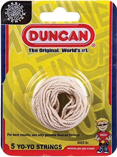Duncan Toys Yo-Yo String [White] - Pack of 5 Cotton String for Plastic, Metal Yo-Yos