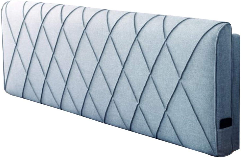 LINLINZ-Coussin De Chevet Respirant Résistant à l'usure Pas FacileHommest Déformé Bonne élasticité Amovible Et Lavable, 5 Couleurs, 12 Tailles (Couleur   bleu, Taille   170X10X58cm)