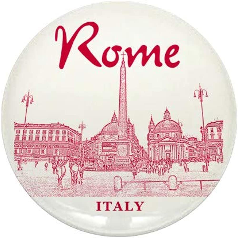 CafePress Rome_10X10_V1_Red_Piazza Del 67% OFF excellence of fixed price Popolo Butt Round 1