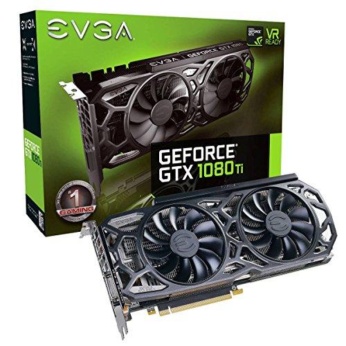 EVGA GeForce GTX 1080 Ti SC Black Edition GAMING, 11GB GDDR5X, iCX Cooler & LED, Optimized Airflow Design, Interlaced Pin Fin Grafikkarte 11G-P4-6393-KR
