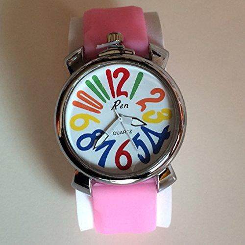 CursOnline Reloj Con Diseño Moderno Hombre Mujer Elegante Cómodo Acero Pulsera Flor,...