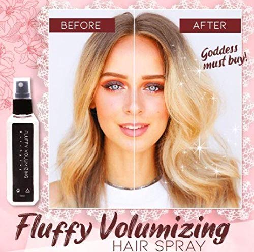 Awolf Fluffy Volumizing Hair Spray, Pump-Hair Extra-Volume Magic Spray, Hair Spray Bottle, Instant Volumizing with Non Greasy & Non Sticky Formula, Suitable for All Hair Types Hairstyling