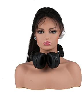 L7 Mannequin PVC Manikin Head Realistic Mannequin Head Bust Wig Head Stand for Wigs Display Making Styling