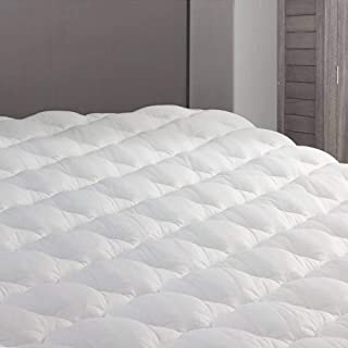 eLuxurySupply RV Mattress Pad - Extra Plush Topper with Fitted Skirt - Found in Marriott Hotels - Made in The USA - Hypoallergenic - Mattress Cover for RV, Camper - RV Full/Three Quarter