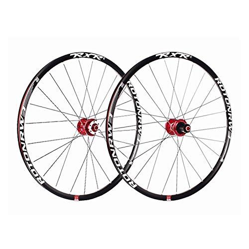 TYXTYX Ejes de liberación rápida Accesorio para Bicicleta Ruedas de Bicicleta de montaña de 27.5', Doble Pared Rodamientos sellados de llanta MTB de liberación rápida Disco 7 8 9 Bicicleta de Carr